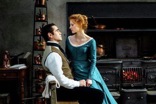 Julie kisasszony (Miss Julie) Colin Farrell és Jessica Chastain